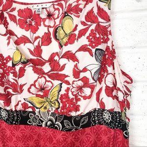 CABI 100% silk floral tunic
